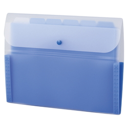 Document Folder, 5 INDEX, A4, Cobalt Blue