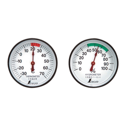 Thermometer and Hygrometer Set, Round