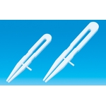 PTFE Flat Nose Tweezers 100 - 200 mm with Guide