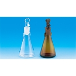 Drop Bottle Triangle, Transparent 30 ml-60 ml/Brown 30 mL