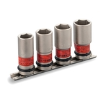 Thin Foil Nut Socket Set for Impact Wrenches (with Holder) HA404N (TONE)