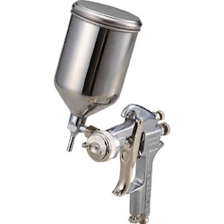 Spray Gun with Cup Set Gravity Type Nozzle Diameter (mm) φ1.1 to φ1.4 Cup Material Stainless Steel