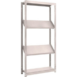 Small to Medium Capacity Boltless Shelf Model M1.5 (150 kg Type, Height 1,800 mm, 4 Shelf Type of Which 2 Are Inclined Shelves, Front Strike Plates Provided) Single Unit Type