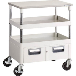 Phoenix Wagon (Noise Suppression Type with Double-Row Drawers and Countertop) Height 759 mm