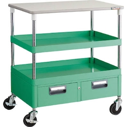 Phoenix Wagon (Noise Suppression Type with Double-Row Drawers and Countertop) Height 899 mm