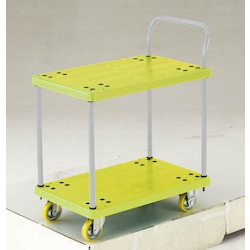 Anti-Static Resin Trolley, Grand Cart, One-Side Handle 2-Level Type