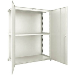 Small to Medium Capacity Boltless Shelf Model M3 (Panels and Doors Provided, 300 kg Type, Height 1,800 mm, 3 Shelf Type) Linked Unit Type (Height 1,800 mm, Rear Plates Provided)