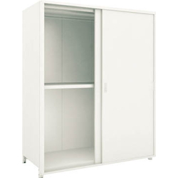 Small to Medium Capacity Boltless Shelf Model M2 (Panels and Double Sliding Doors Provided, 200 kg Type, Height 1,800 mm, 3 Shelf Type) Single Unit Type (Height 1,800 mm, Rear and Side Plates Provided)