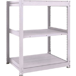 Medium Capacity Boltless Shelf Model TUG (300 kg Type, Height 1,200 mm, 3 Shelf Type) Single Unit Type (Height 1,200 mm, 3 Shelf Type)