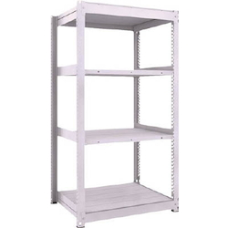 Medium Capacity Boltless Shelf Model TUG (300 kg Type, Height 1,800 mm, 4 Shelf Type) Single Unit Type (Height 1,800 mm, 4 Shelf Type)
