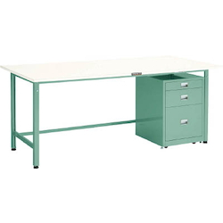 Light Work Bench with 3-Shelf Cabinet Linoleum Tabletop Average Load (kg) 300