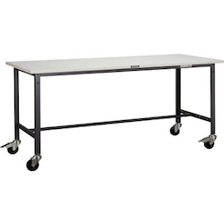 Light Work Bench with φ100 mm Casters Plastic Panel Tabletop Average Load (kg) 150