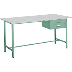 Standing Light Work Bench with 2 Drawers Linoleum Tabletop Average Load (kg) 300