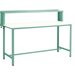 Standing Light Work Bench with Upper Shelf Linoleum Tabletop Average Load (kg) 300