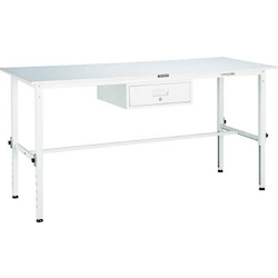 Lightweight Adjustable Height Work Bench with 1 Drawer Linoleum Tabletop Average Load (kg) 150
