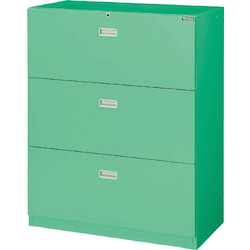 System Storage Cabinet for Factories Model MU (Lateral 3 Shelves, Drawer Type)