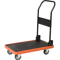 MKP Resin-Made Spillproof Cart, Type with Folding Handles and Urethane Casters