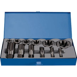 Tap for Pipes, Hexagonal Chamfered Nut Die Set (PT Screw)