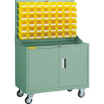 Panel Container Rack (Movable Type with Storage Cabinet)
