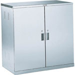 Anti-Seismic Chemical Cabinet, Stainless Steel, Double Opening Door Type, Shelf Slide Type