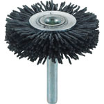 Wheel Brush with Shaft (for Motorized Use/Shaft Diameter 6 mm/Round Shaft Type) (with Abrasive Granules)