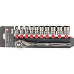 Socket Wrench Set (12 Sided Type / 12.7 mm Insertion Angle)