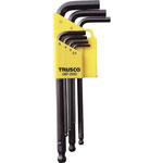L-Shape Ball End Hex Key Set - 7 Piece Set, 2.5mm to 10mm (Trusco Nakayama)