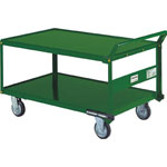 Steel Hand Truck, 2-Level Type with Handle on One End and Spill Stoppers