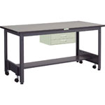 Caster-Free Work Table with 2 Drawer, Equal Load (kg) 500