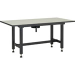 Work Bench with Handle for Height Adjustment Melamine Resin Countertop Uniform Load 300 kg