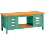 Heavy Work Bench with 3-Shelf / 4-Shelf Cabinet Average Load (kg) 3000