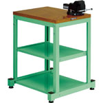 Compact Workbench, with Vise, Uniform Load 150 kg/300 kg