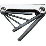 Folding Hex Key Set - Available in 6 or 7 Piece Sets, 1.5mm to 10mm, GN Series (Trusco Nakayama)