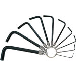 L-Shape Hex Key with Ring Holder - 1/16in to 3/8in, 10 Piece Set, GR Series (Trusco Nakayama)