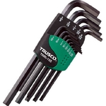 L-Shape Hex Key Set - Black Oxide, Available in 9 or 13 Piece Sets, 1/20in to 3/8in, TRRI Series (Trusco Nakayama)