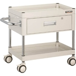 """""""Falcon Wagon"""" Filing Trolley (Urethane Double-Caster Specification / with 1 Deep Drawer)"""