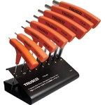 T-Handle Ball End Hex Key Set - 8 Piece Set, 2mm to 10mm (Trusco Nakayama)