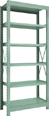 Medium Capacity Bolted Shelf Model R3 (300 kg Type, Height 2,100 mm, 6 Shelf Type)