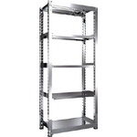 Stainless Steel Medium-Weight Shelf (300 kg Type, Height 2,100 mm, 5-Level Type)