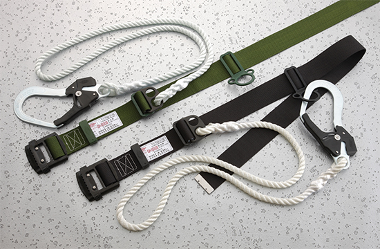 Wide Grate Hook Safety Belt, Deluxe GH Type GH-555DX