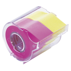 Memoc Roll Tape Fluorescent Colors, Rose/Lemon