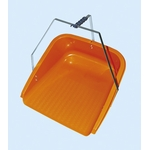 Orange Dustpan with Three Handles