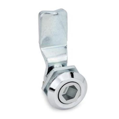 Cam Latches - Zinc Die-Cast, Chrome-Plated Locating Ring, With Socket Key, GN115 Series, (JW Winco)