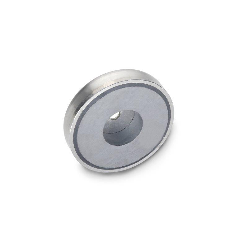 Retaining Magnets - Stainless Steel, With Bore, GN50.45 Series (JW Winco)