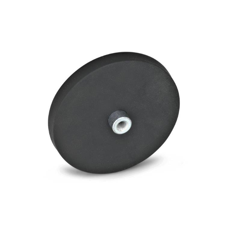 Retaining Magnets - Tapped Hole, Rubber Jacket, GN51.2 Series (JW Winco)