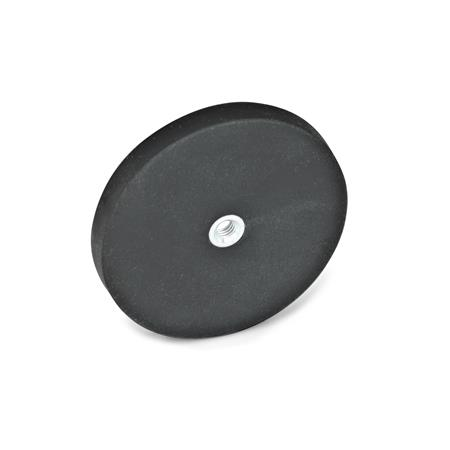 Retaining Magnets - Tapped Hole, Rubber Jacket, GN51.5 Series (JW Winco)