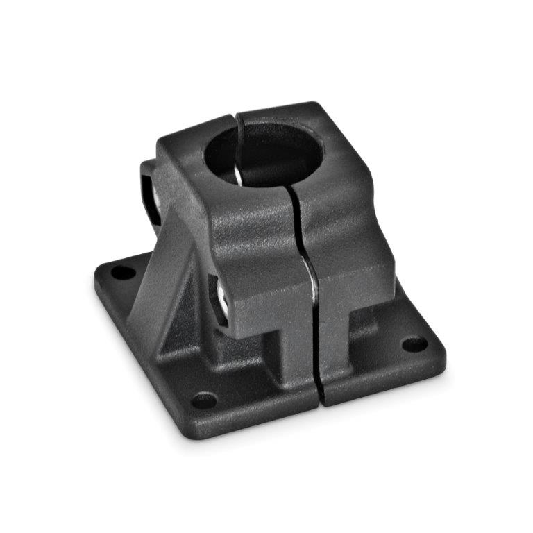 Base Plate Connector Clamps - Aluminum, Split Assembly, Round or Square Bore Type, GN 165 Series (JW Winco)