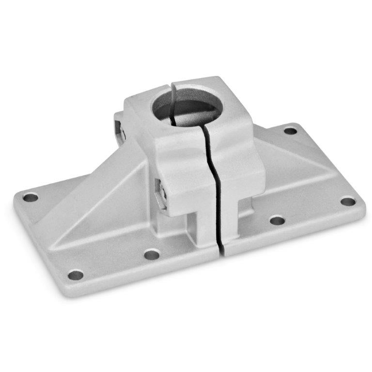 Wide Base Plate Connector Clamps - Aluminum, Split Assembly, GN 167 Series (JW Winco)