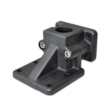 Flanged Base Plate Connector Clamps - Aluminum, Split Assembly, GN 171 Series (JW Winco)