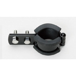 Vertical Pipe Fitting with Black Vibration Proof CL Standing Band 3t Rubber